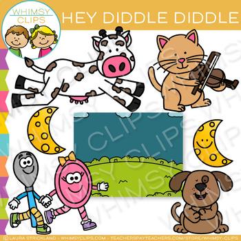 Hey Diddle Diddle Nursery Rhyme Clip Art