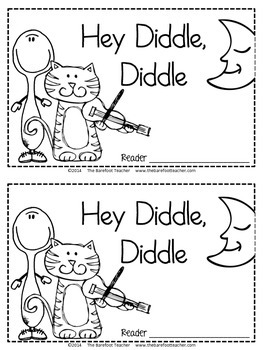 Hey Diddle Diddle Nursery Rhyme Emergent Reader & Class Poster