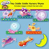 Hey, Diddle, Diddle! Nursery Rhyme Headbands & Sentence Strips