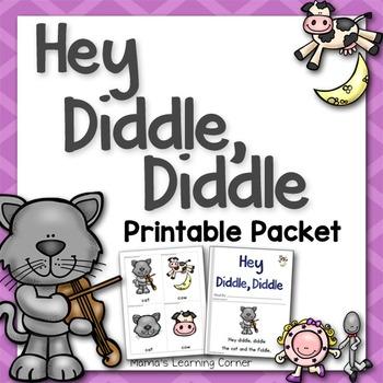 Hey Diddle Diddle Nursery Rhyme Packet