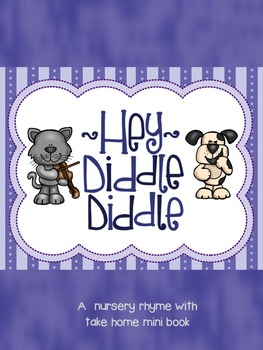 Hey Diddle Diddle Nursery Rhyme - Poster, Book, and Take H