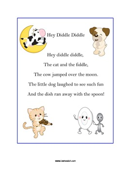 Hey Diddle Diddle Nursery R... by Lauren Weese | Teachers Pay Teachers