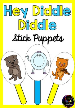 Hey Diddle Diddle Nursery Rhyme Puppets