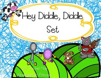 Hey Diddle Diddle Nursery Rhyme Set
