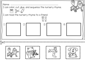 Hey Diddle Diddle Nursery Rhyme with a Home Connection and Stem Challenge