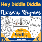 Retelling Activities with Hey Diddle Diddle - Prek, Kindergarten