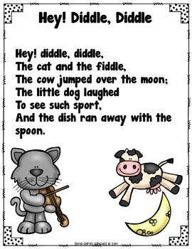Hey Diddle Diddle Pocket Chart Activities