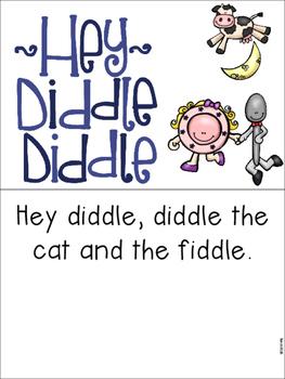 Hey Diddle Diddle Pre-K and Kindergarten Activities