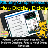 Hey Diddle, Diddle Reading Comprehension BOOM CARDS!