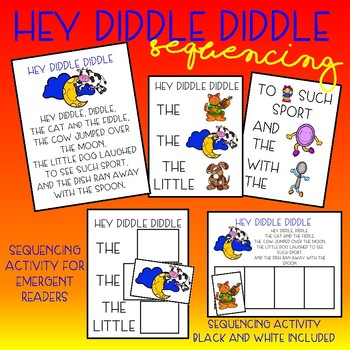 Hey Diddle Diddle - Sequencing Activities