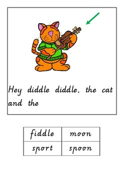 Hey Diddle Diddle adapted book
