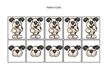 Hey Diddle Diddle themed Pattern Cards #3 preschool learning game.  Daycare game
