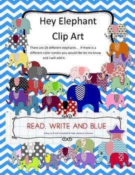 Hey Elephant Clip Art