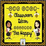 Classroom Decor Bumblebee Freebie