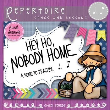 Hey Ho Nobody Home {Dotted Quarter Eighth Practice Pack}