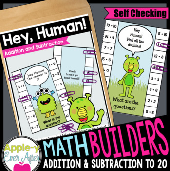 Hey Human! Self checking Addition and Subtraction Game!