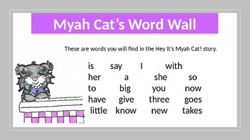 Hey It's Myah Cat! High Frequency Words Flash Cards
