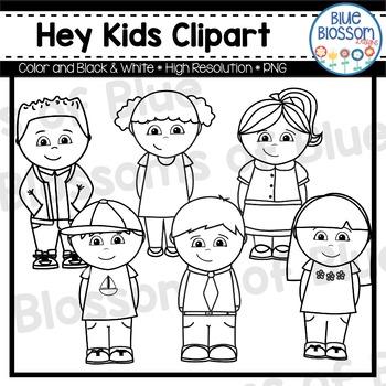 Hey Kids Clipart