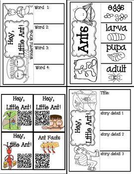Hey, Little Ant! ( Book Companion with paired non-fiction activities)