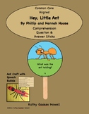 Hey, Little Ant - Comprehension Question & Answer Sticks & Craft