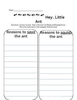 Hey, Little Ant Lesson Sheets