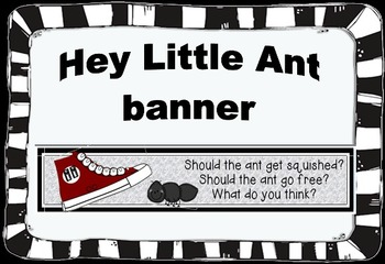 Hey Little Ant Opinion Writing Banner
