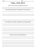 Hey Little Ant Persuasive Writing Worksheet