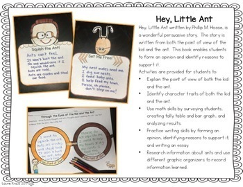 Hey, Little Ant - Read and Respond Activities