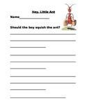 """""""Hey, Little Ant"""" Writing Activity"""