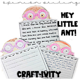 Hey Little Ant- Writing Craft-ivity