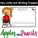 Hey Little Ant Writing Freebie