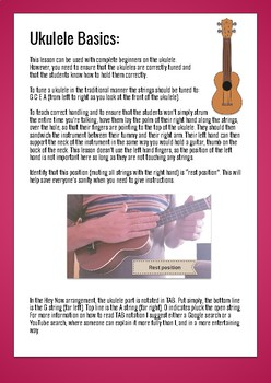 Hey Now: beginner ukulele Orff song and lesson for improvising in the classroom