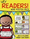Hey Readers! Mini Poster Set for Reading Strategies: Kindergarten & First Grade
