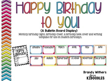 happy birthday to you birthday board display activities tpt