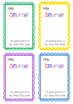 Hey Smartie Gift Tags