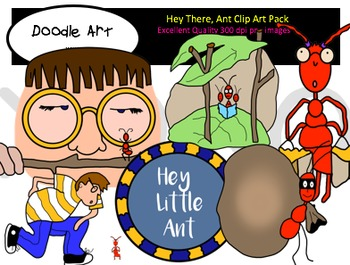 Hey There, Ant Clipart Pack