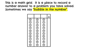 Hey Third Grade, Let's Learn to Bubble a Number!