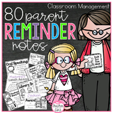 Parent Reminder Notes