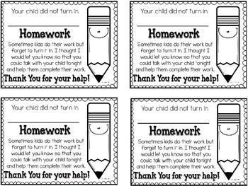 parent reminder notes by teacher to the core teachers