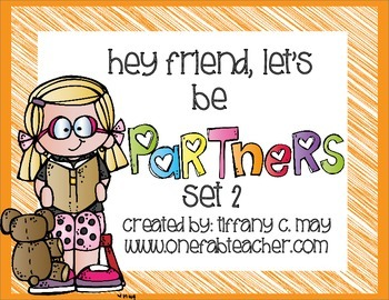 Hey friend, let's be partners! (cards) Set 2