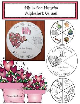 Alphabet Crafts: Alphabet Activities: Hh Is For Hearts Alphabet Wheel