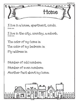 Hh Is For House Letter Shape Address Craftivity