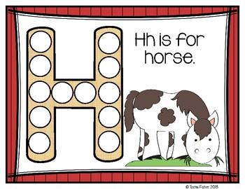 Letter of the Week - H is for Horses Preschool Kindergarten Alphabet Pack