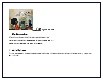 Hi, Cat! for Guided Reading