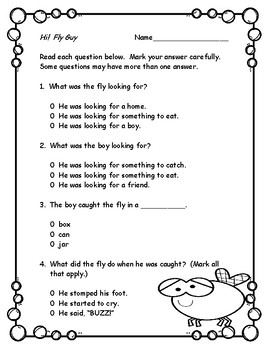 Hi! Fly Guy  --  Sequencing and Comprehension!