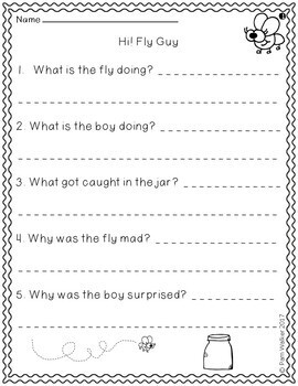 Hi! Fly Guy Comprehension (An Early Chapter Book Companion)