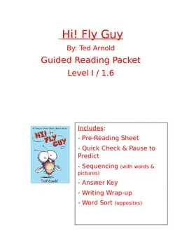 Hi! Fly Guy Guided Reading Packet