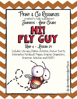 Hi! Fly Guy - Journeys First Grade Print and Go