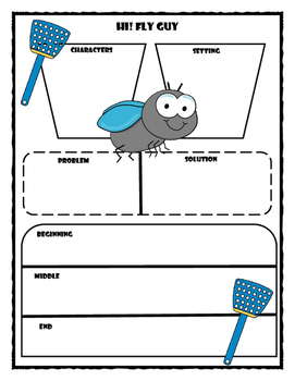 Hi! Fly Guy Story Map - Graphic Organizer