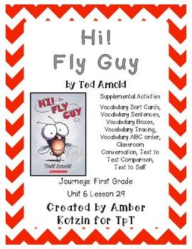 Hi! Fly Guy Supplemental Activities 1st Grade Journeys Unit 6, Lesson 29